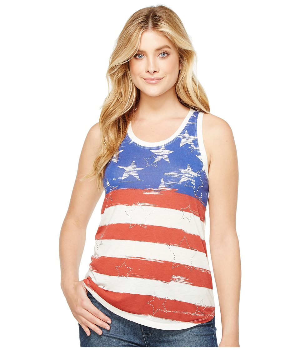 Rock and Roll Cowgirl - Tank Top 49-2110 (White) Women's Sleeveless