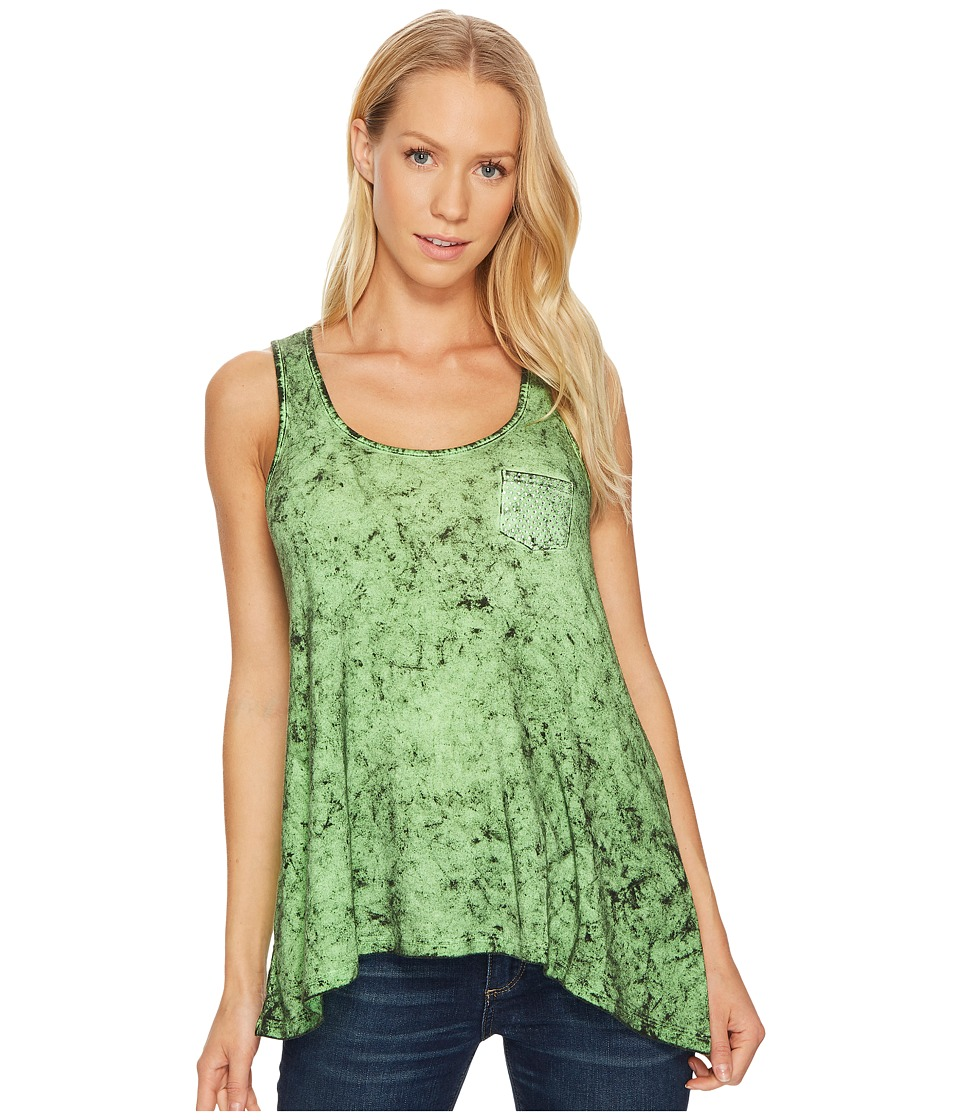 Rock and Roll Cowgirl - Tank Top 49-2116 (Kelly Green) Women's Sleeveless