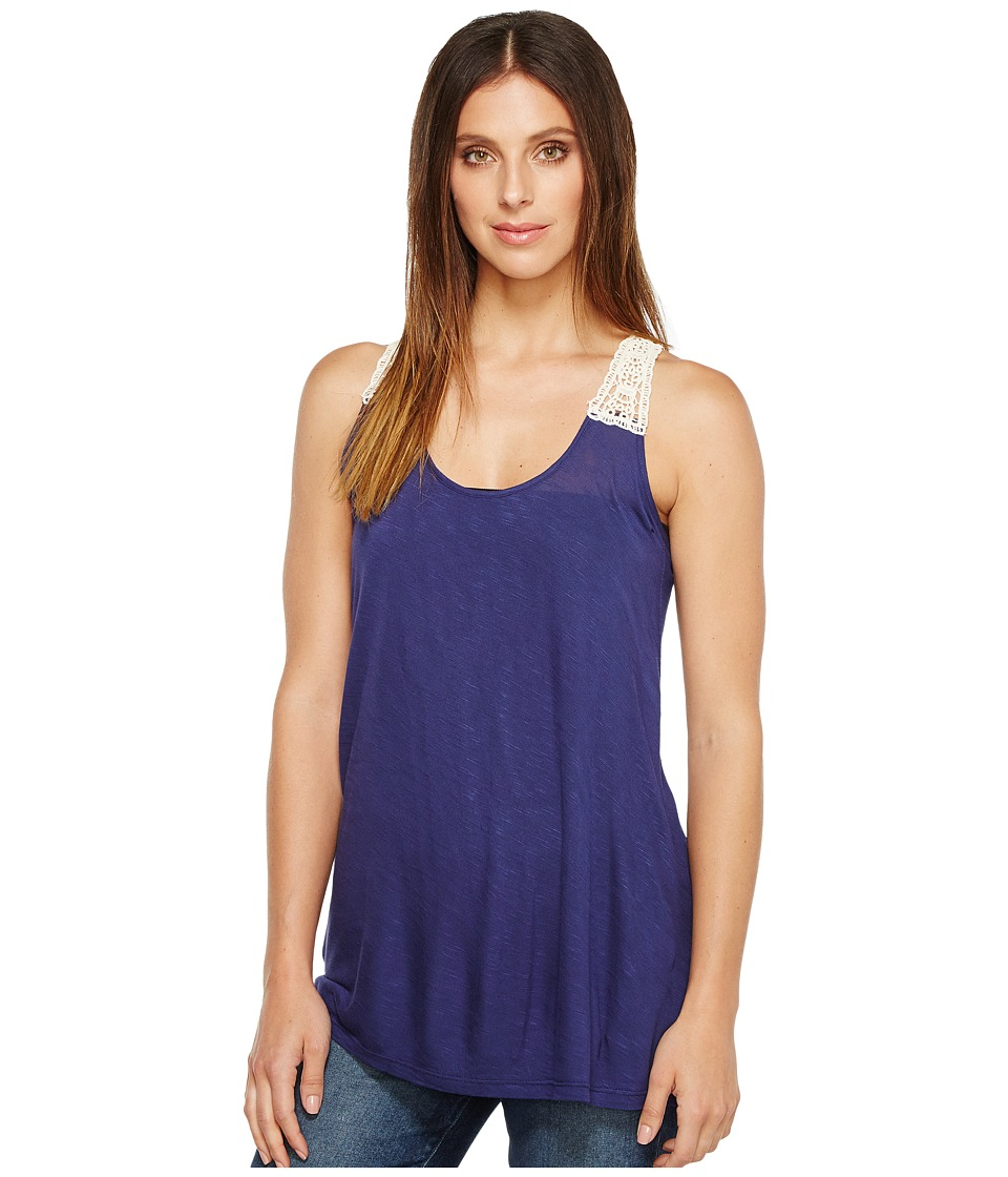Rock and Roll Cowgirl - Tank Top 49-2134 (Light Navy) Women's Sleeveless