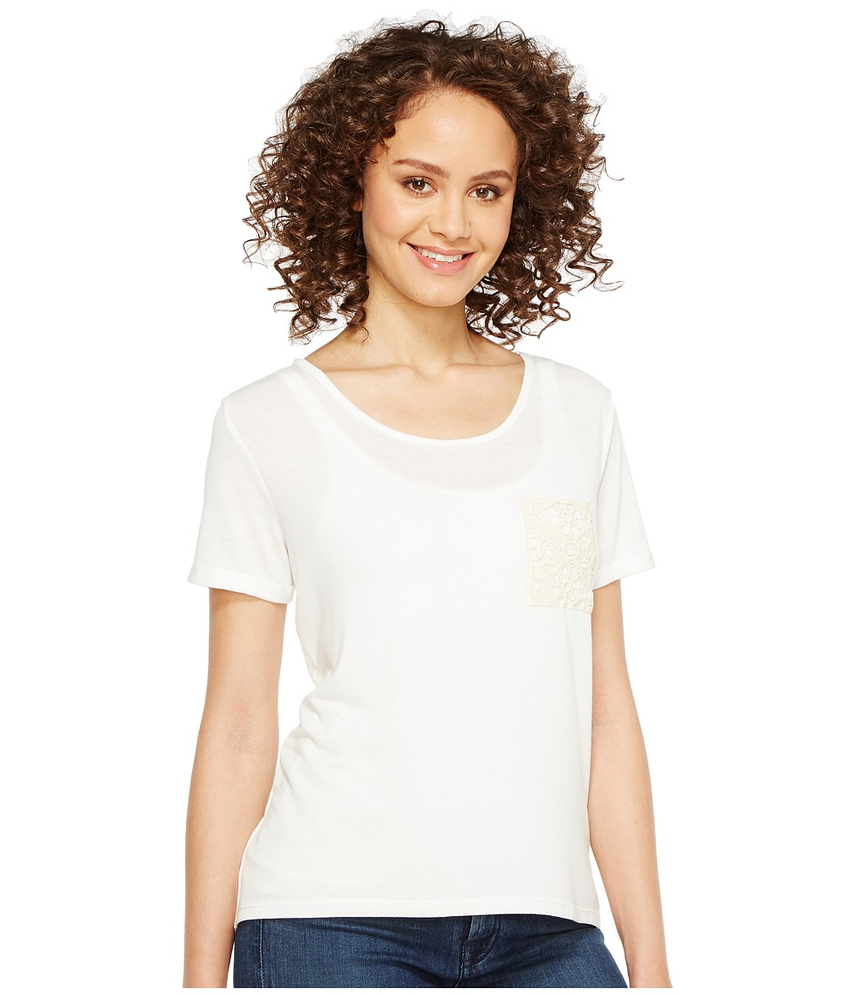 Rock and Roll Cowgirl - Short Sleeve Knit 49T2140 (White) Women's Clothing