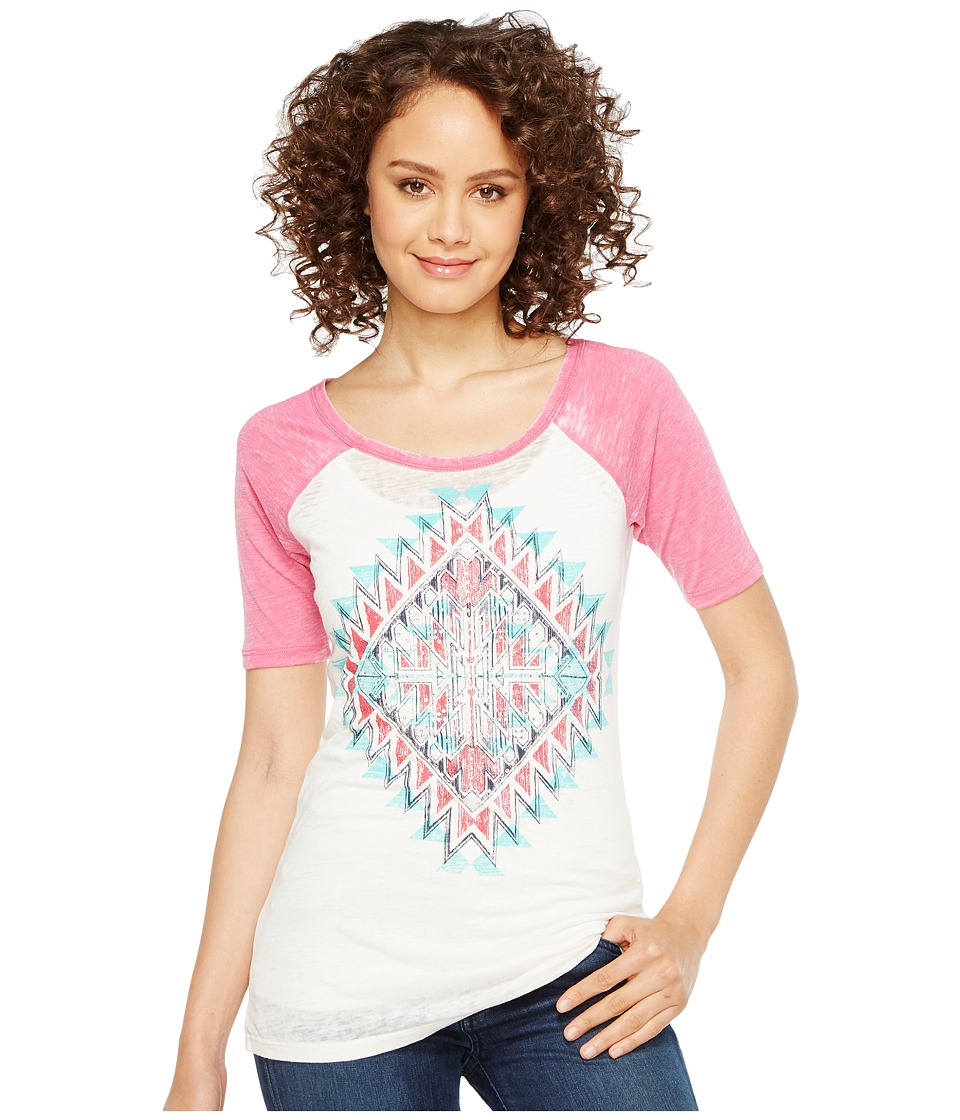 Rock and Roll Cowgirl - 1/2 Sleeve Tee 49T2104 (Hot Pink) Women's T Shirt