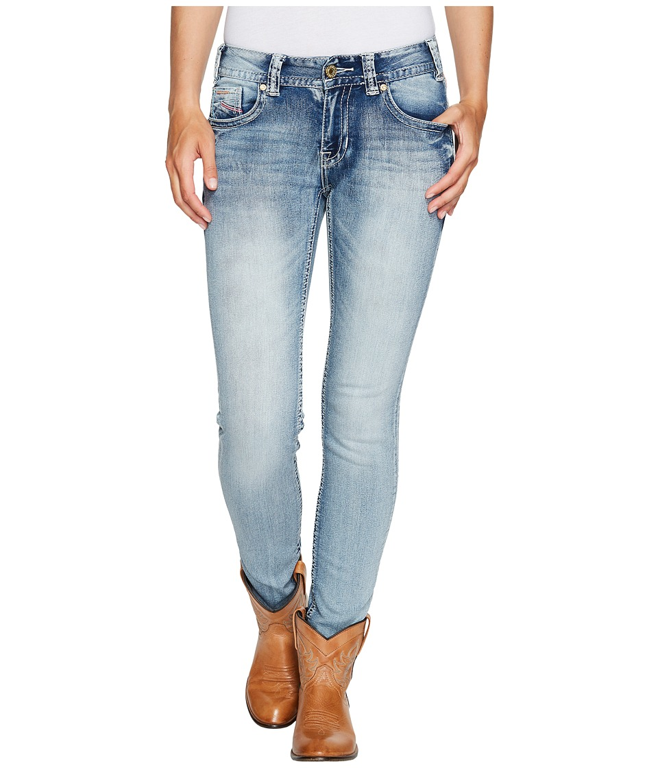 Rock and Roll Cowgirl - Mid-Rise Skinny in Light Vintage W1S2333 (Light Vintage) Women's Jeans
