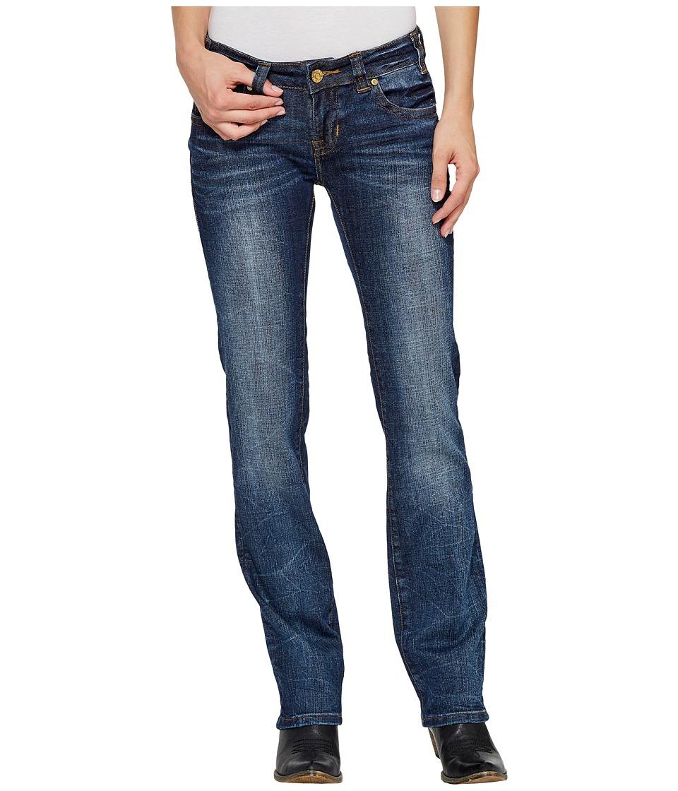 Rock and Roll Cowgirl - Rival Straight in Dark Vintage W62325S (Dark Vintage) Women's Jeans