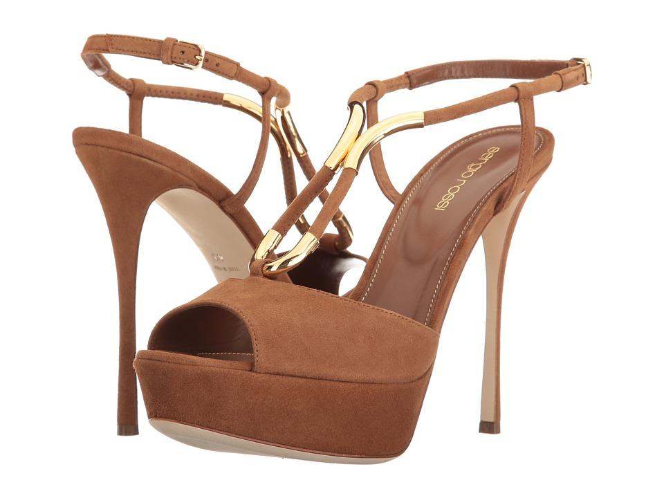 Sergio Rossi Twist Heel (Baobab Suede) High Heels