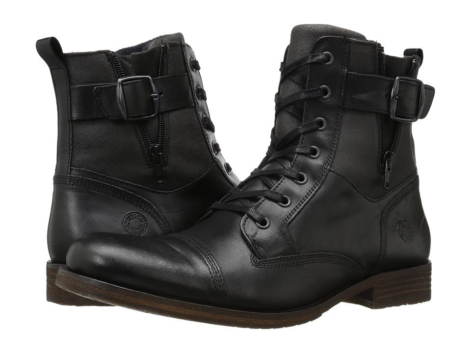 Steve Madden Saxonn Black Mens Shoes