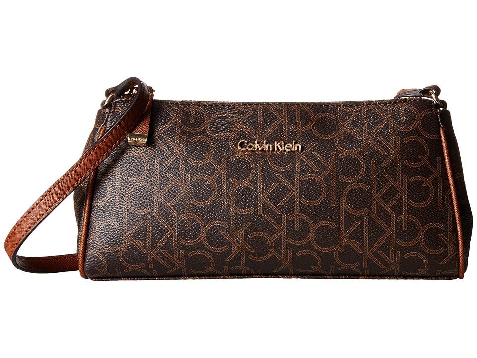 Calvin Klein - Hudson Monogram Crossbody (Brown/Khaki/Luggage) Cross Body Handbags