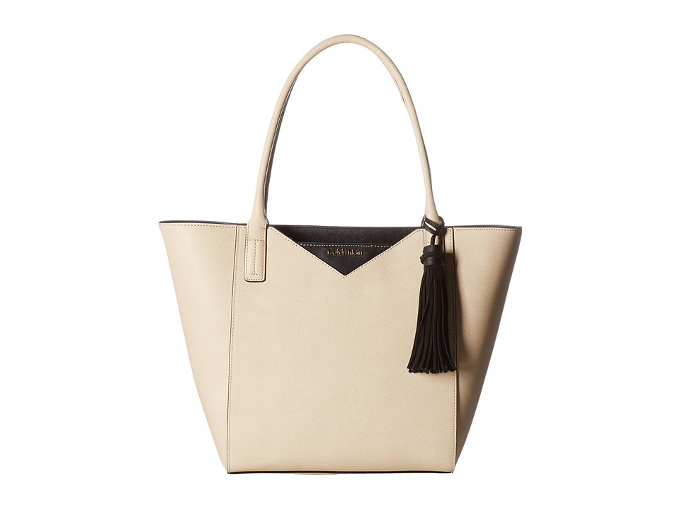 Calvin Klein - Key Item Saffiano Tote (Wheat/Black) Tote Handbags