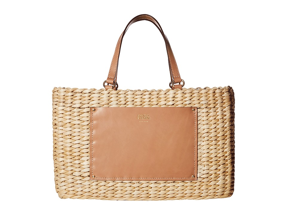 Frances Valentine - Woven Pocket Medium Tote (Natural/Natural) Tote Handbags