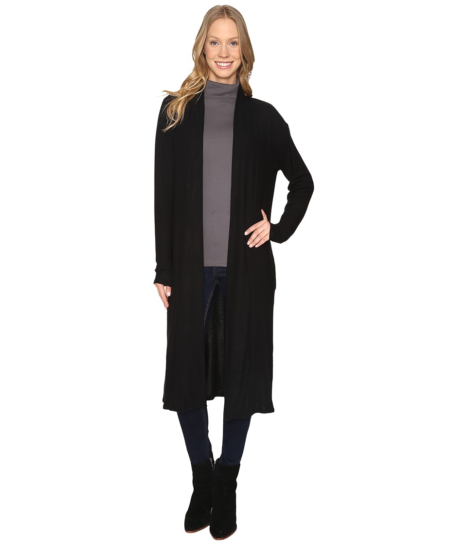The Beginning Of - Maxi Cardi (Black) Women's Sweater
