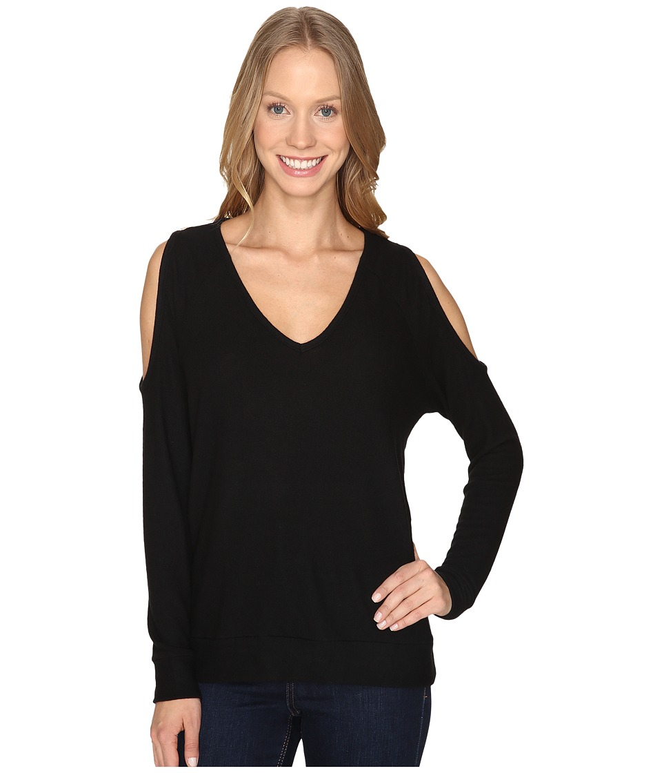 The Beginning Of - Cold Shoulder Top (Black) Women's Clothing