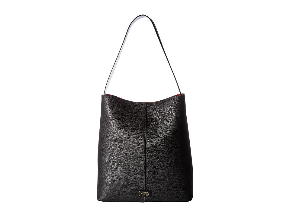 Frances Valentine - Small Finn Medium Shoulder Bag (White/Black) Shoulder Handbags