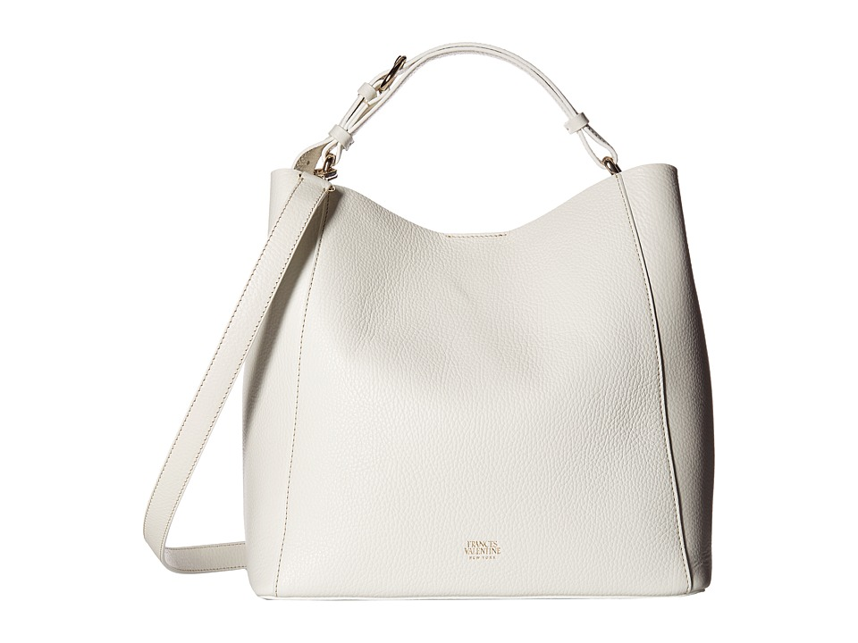Frances Valentine - Medium June Hobo (White) Hobo Handbags