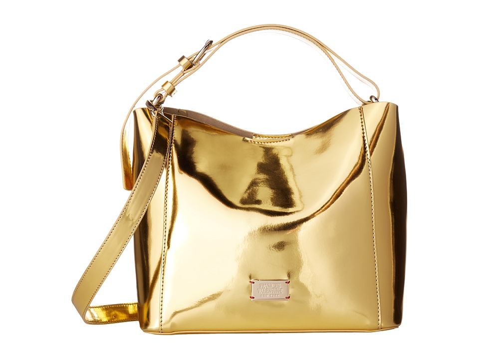 Frances Valentine - June Small Metallic Hobo (Gold) Hobo Handbags