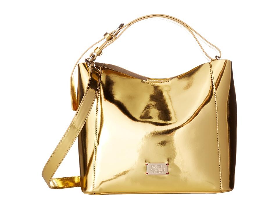 Frances Valentine - June Small Metallic Hobo (Gold) Hobo Handbags