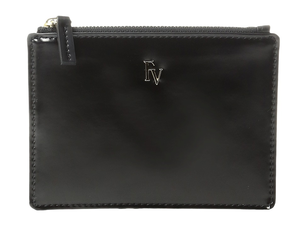 Frances Valentine - Top Zip Leather Coin Purse (Black) Coin Purse