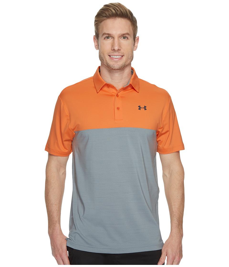 Under Armour Golf Playoff Polo Blocked (Mandarin/Overcast Gray/Rhino Gray) Men