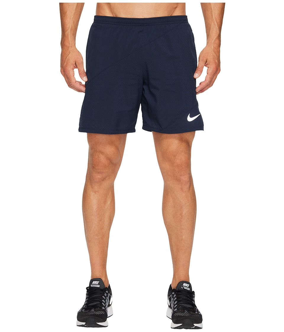 Nike Distance 7 Running Short (Obsidian/Obsidian) Men