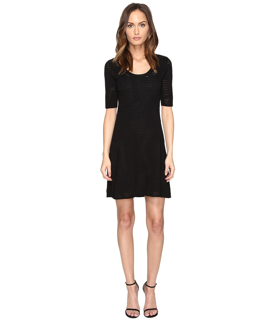M Missoni - Solid Rib Stitch Dress (Black) Women's Dress