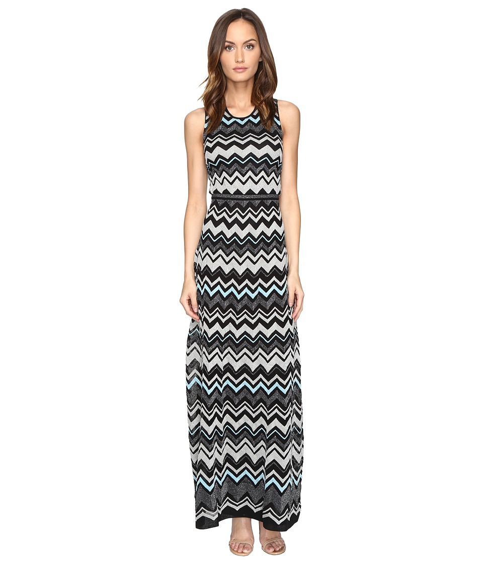 M Missoni - Lurex Zigzag Maxi Dress (Black) Women's Dress