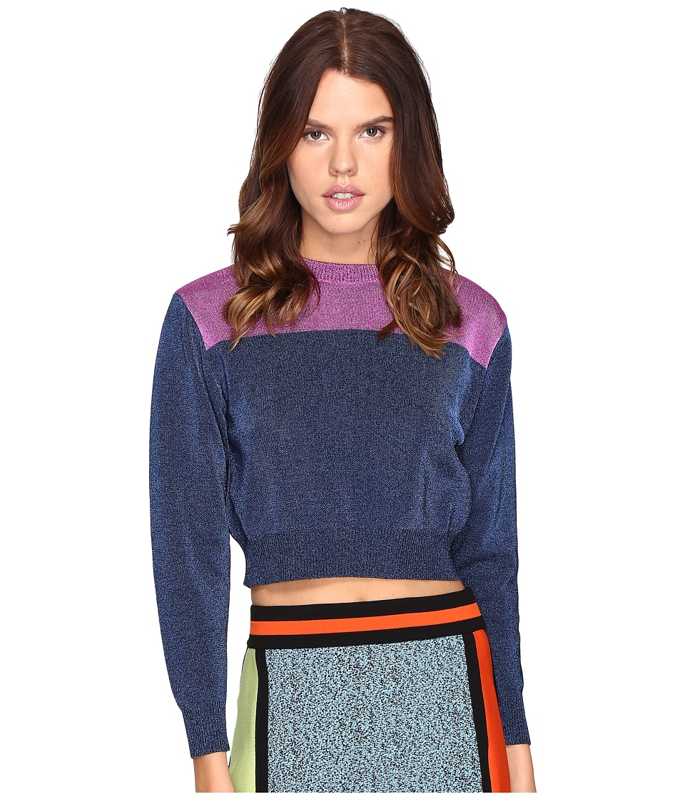 M Missoni - Metallic Stripe Sweater (Ink) Women's Sweater