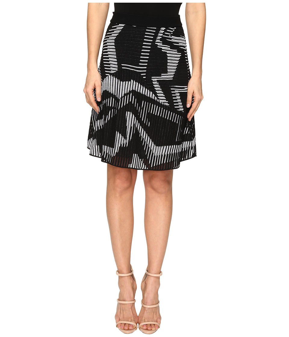 M Missoni - Geo Knit Skirt (Black) Women's Skirt