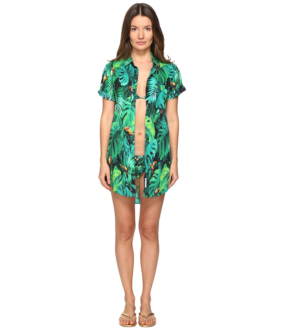 onia - Jesse Cover-Up (Green Multi) Women's Swimwear
