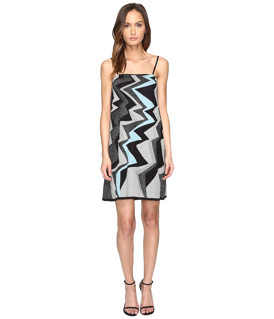 M Missoni Lurex Lightening Intarsia Dress (Ice) Women