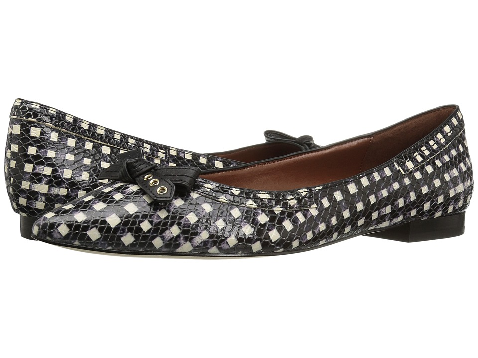 Cole Haan - Alice Bow Skimmer (Black/White Grid) Women's Shoes