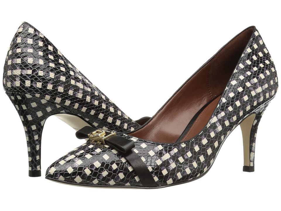 Cole Haan - Juliana Detail Pump (Black/White Grid) Women's Shoes