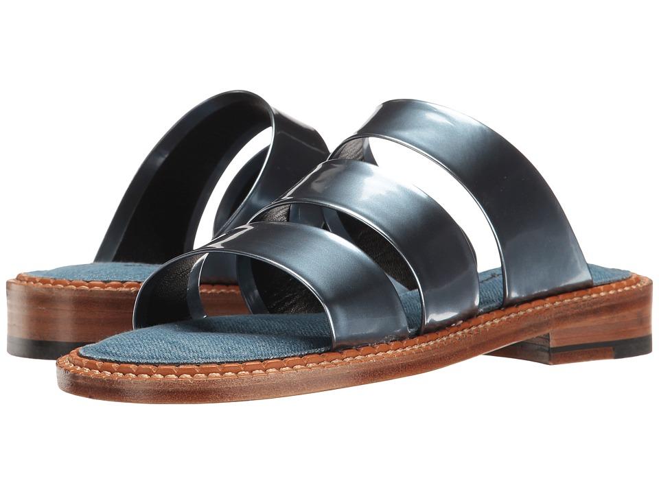 Robert Clergerie Blur (Ocean Metallic Patent Leather) Women