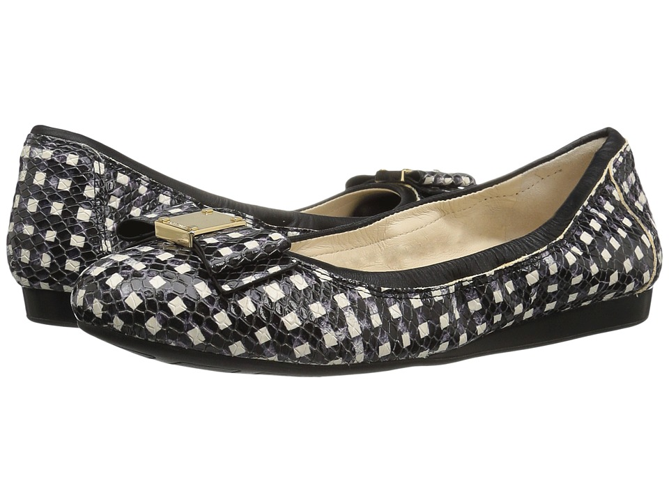 Cole Haan - Tali Bow Ballet (Black/White Grid) Women's Slip on Shoes