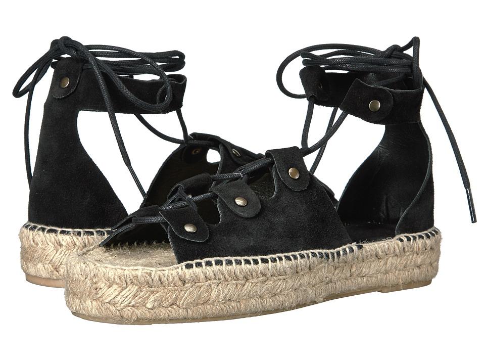 Soludos - Ghillie Platform Sandal (Black) Women's Sandals