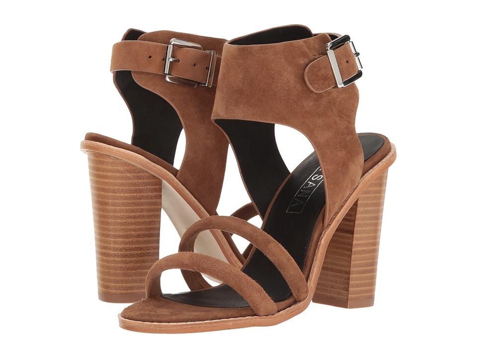 Sol Sana - Tiki Heel (Tan Suede) Women's Shoes