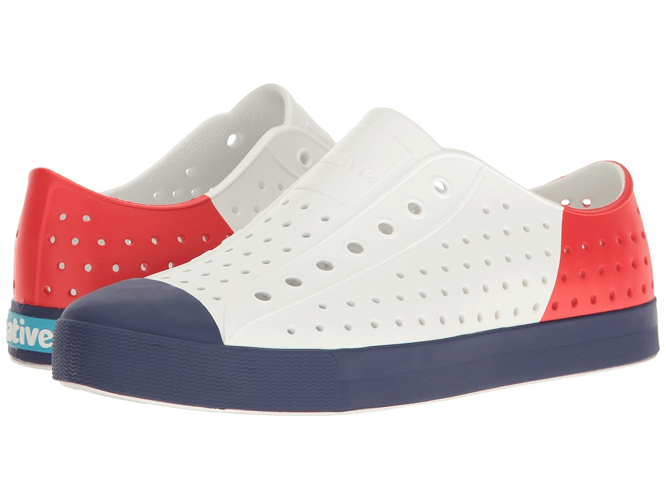 Native Shoes - Jefferson (Shell White/Regatta Blue/Torch Block) Shoes