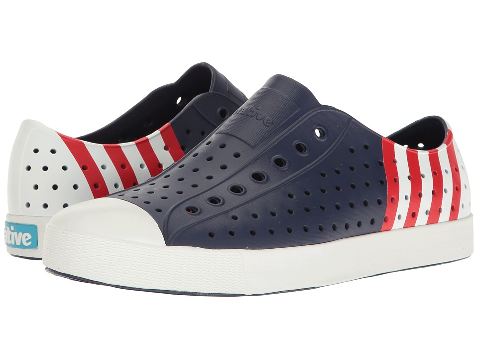 Native Shoes Jefferson (Regatta Blue/Shell White/Stripe Block) Shoes