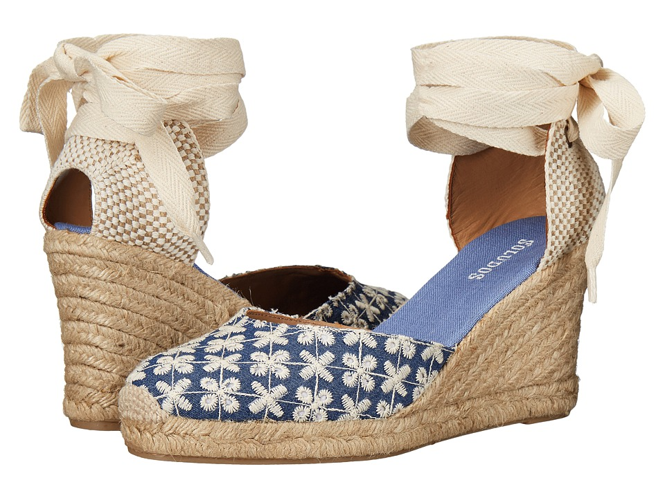 Soludos Pattern Tall Wedge (Denim) Women