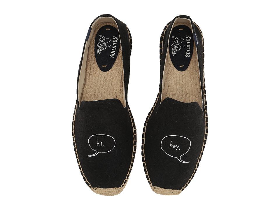 Soludos - Hi Embroidered Smoking Slipper (Black) Men's Slippers