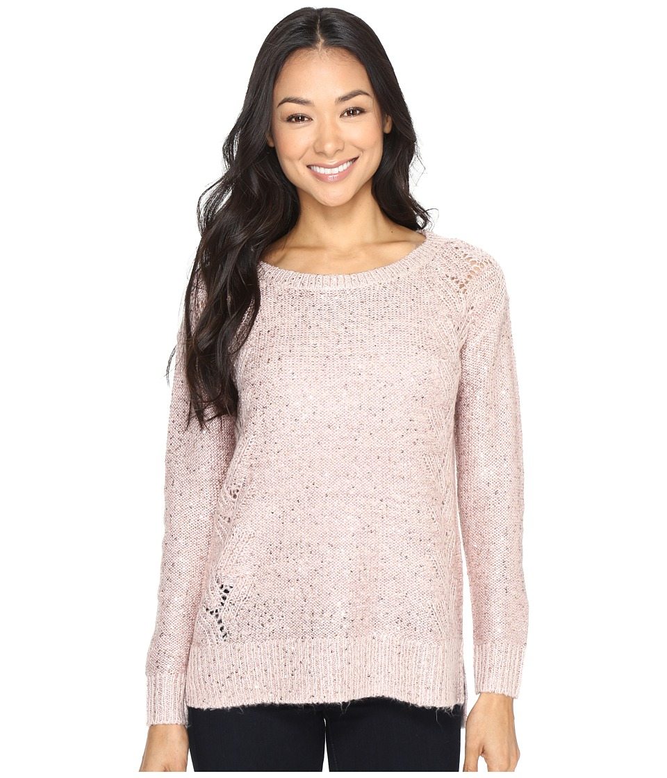 NYDJ Petite - Petite Sequin Tunic (Pink Cameo) Women's Clothing