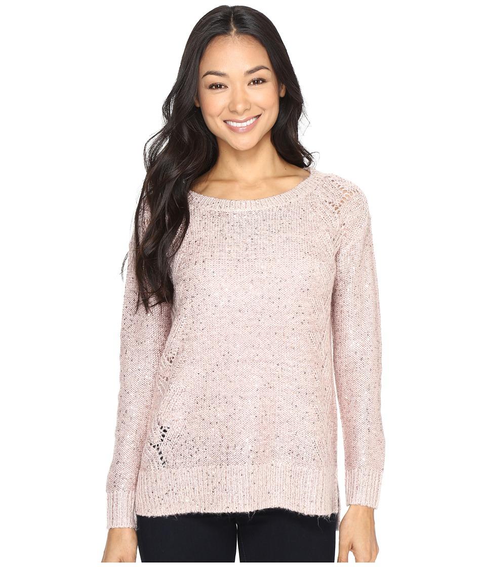 NYDJ Petite - Petite Sequin Tunic (Pink Cameo) Women's Clothing