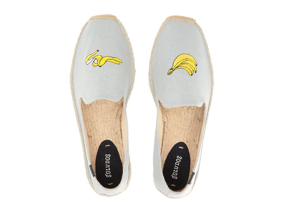 Soludos - Banana Embroidered Smoking Slipper (Chambray) Men's Slippers