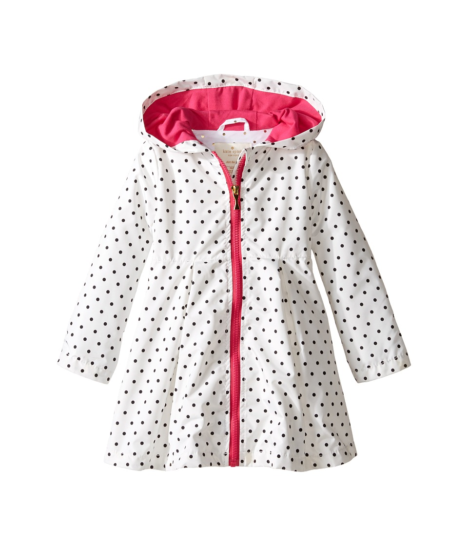 Kate Spade New York Kids - Dot Raincoat (Toddler/Little Kids) (Cream/Black) Girl's Coat