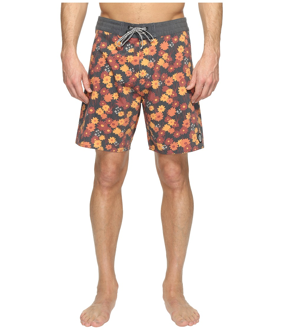 Captain Fin - Field of Radness Boardshorts (Orange) Men's Swimwear