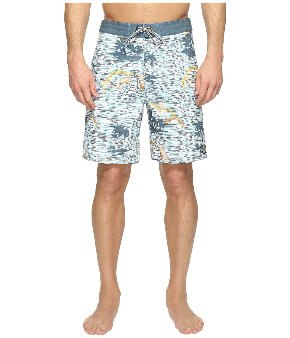 Captain Fin - Wind Mother Boardshorts (Blue) Men's Swimwear