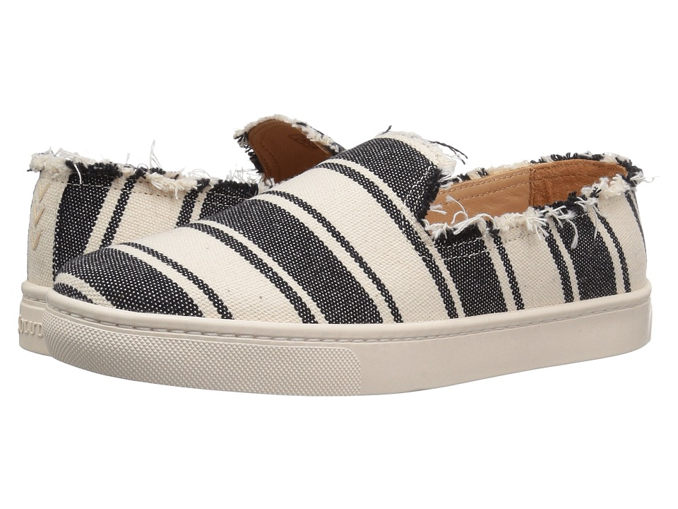 Soludos Striped Slip-On Sneaker (Black/Natural) Women