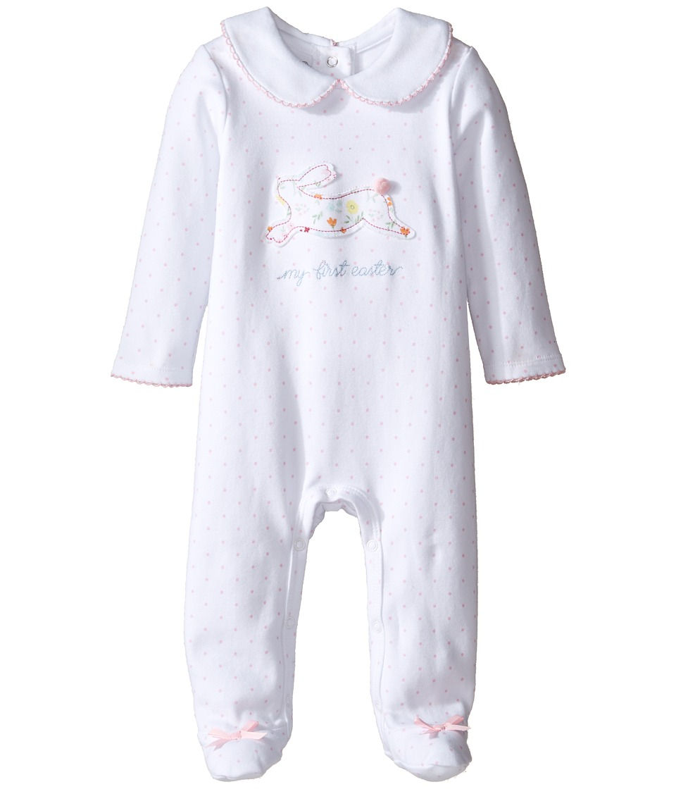 Mud Pie - Bunny Footed Sleeper (Infant) (White) Girl's Jumpsuit & Rompers One Piece
