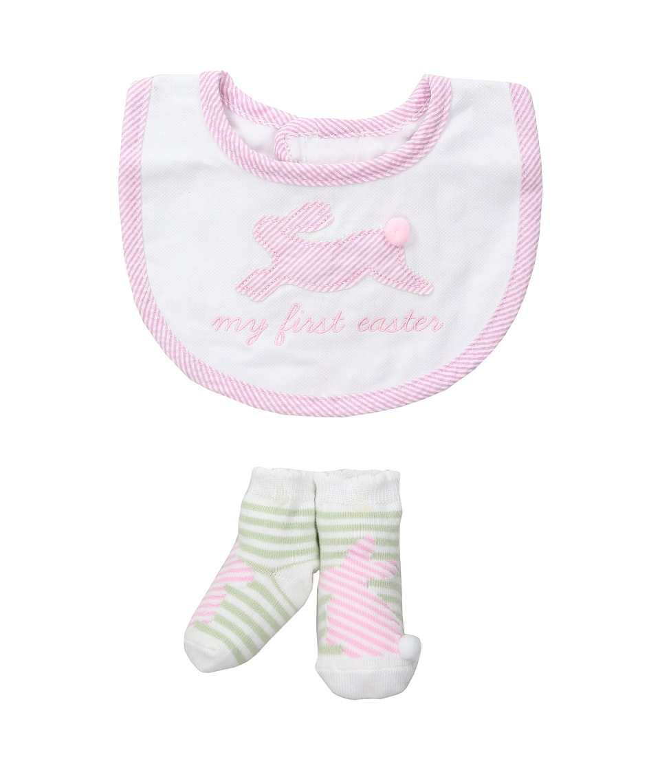 Mud Pie - My First Easter Bib Sock Set (Infant) (Pink) Girls Shoes