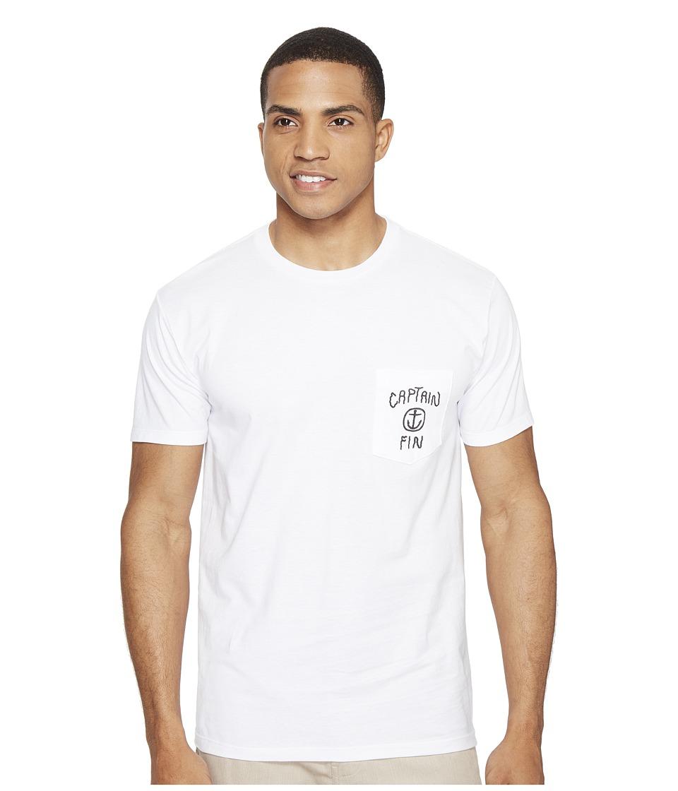 Captain Fin - Water World Pocket T-Shirt (White) Men's T Shirt