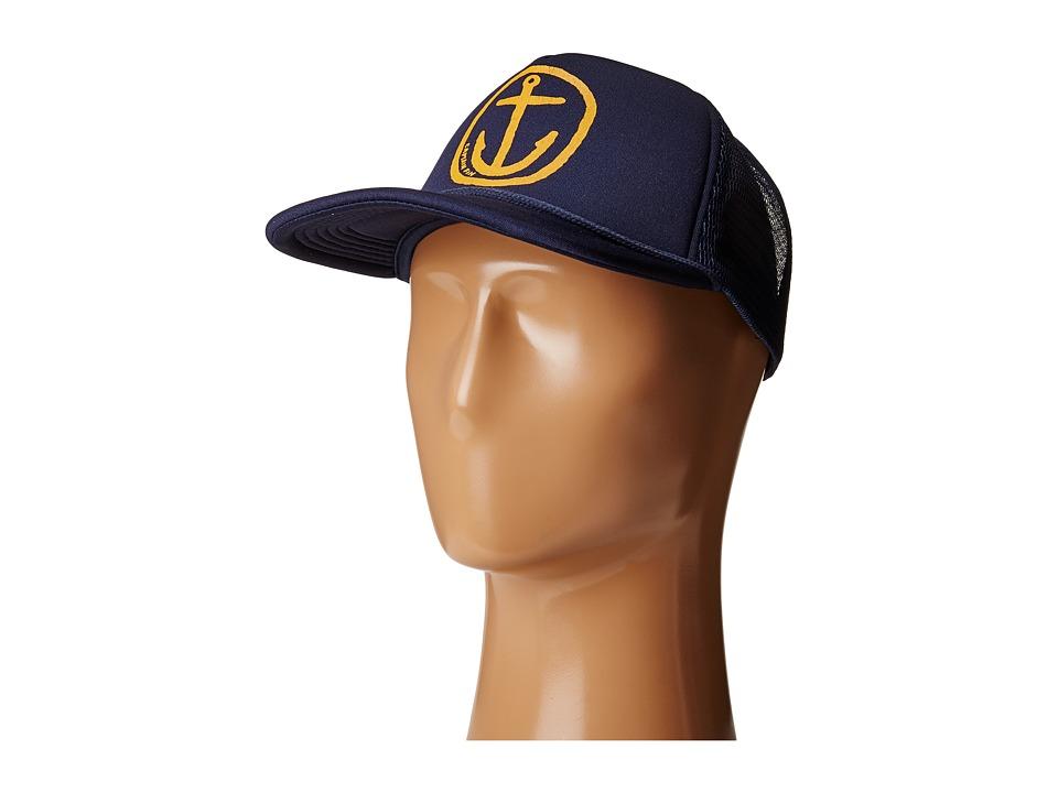 Captain Fin - Nuevo Anchor Trucker Hat (Navy) Caps