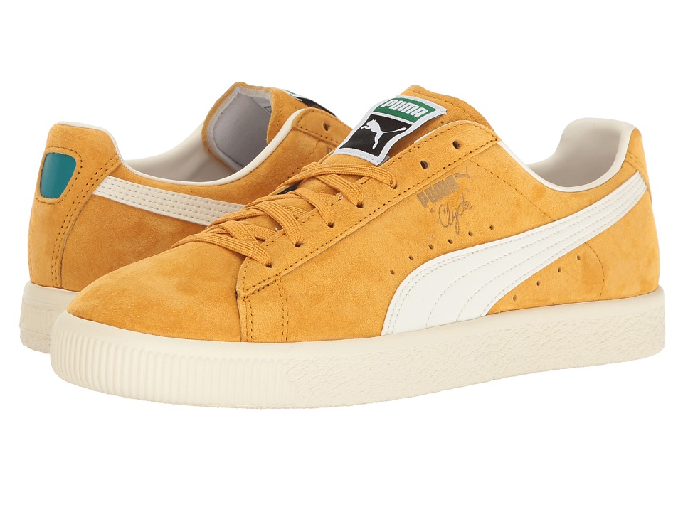 PUMA - Clyde Premium Core (Artisan's Gold/Whisper White) Men's Shoes