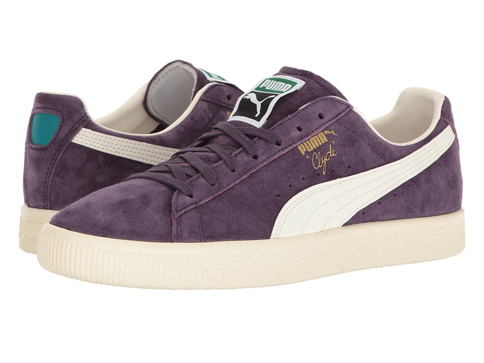 PUMA - Clyde Premium Core (Sweet Grape/Whisper White) Men's Shoes